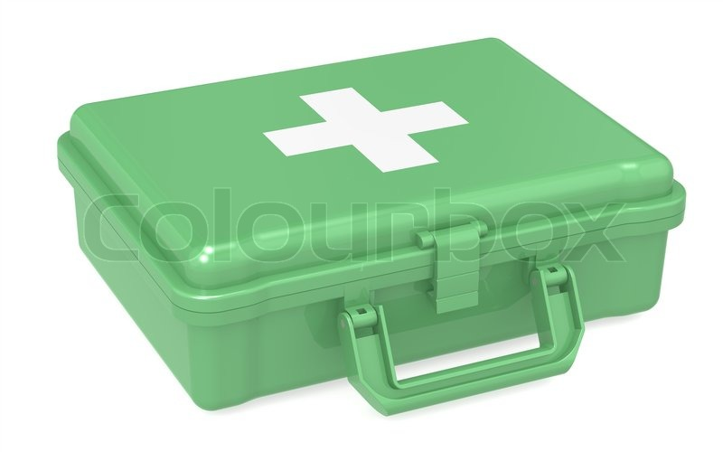 First Aid Kit Iso Stock Photo Colourbox