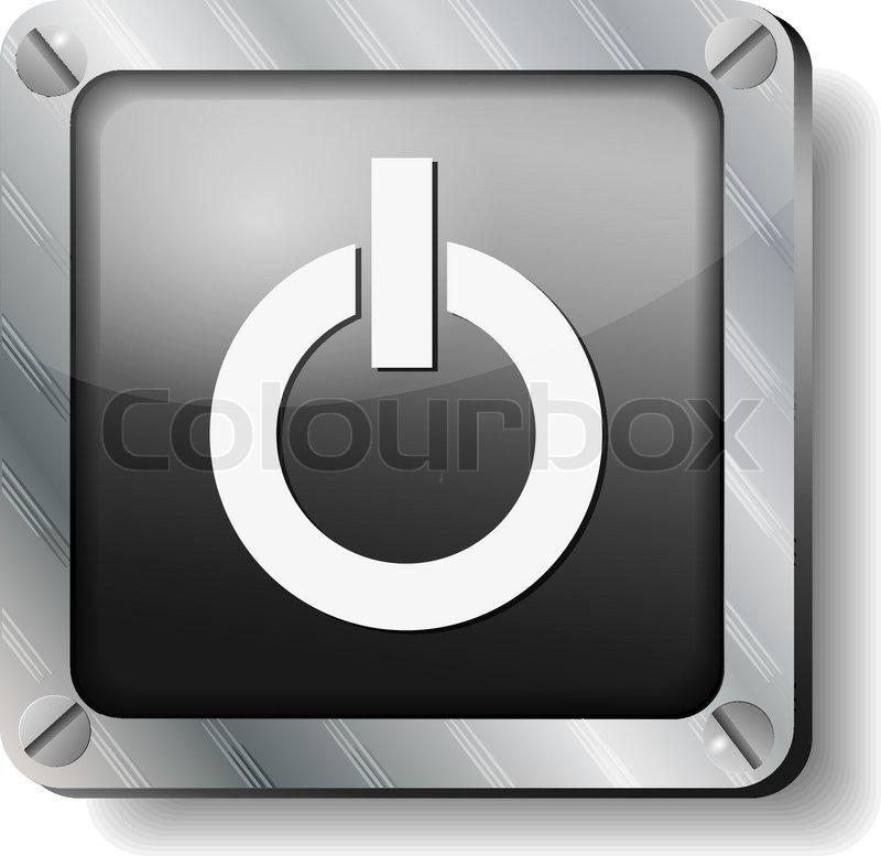 Stahl ausschalten Symbol   Vektorgrafik   Colourbox