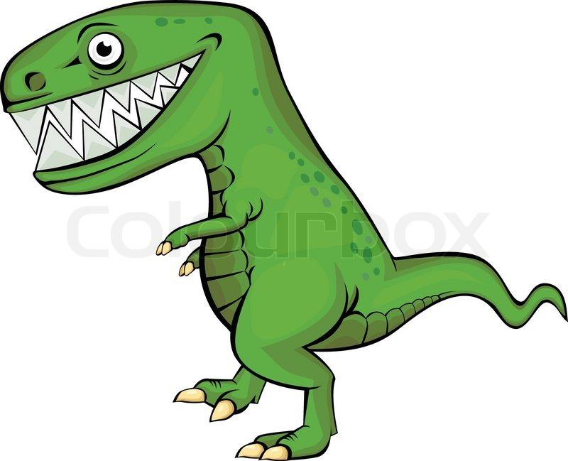 Dinosaurier Cartoon Stock Vektor Colourbox