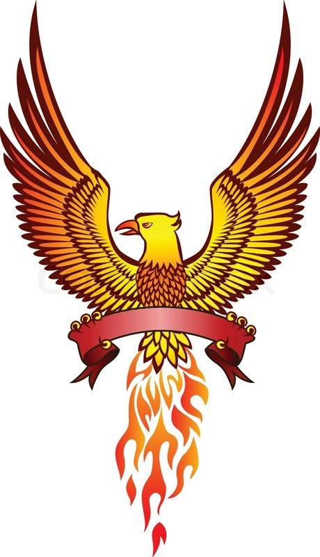 Phoenix Bird And Emblem Stock Vector Colourbox