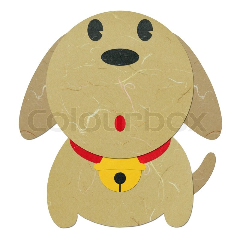 Rice paper cut cute cartoon dog stock photo colourbox voltagebd Images