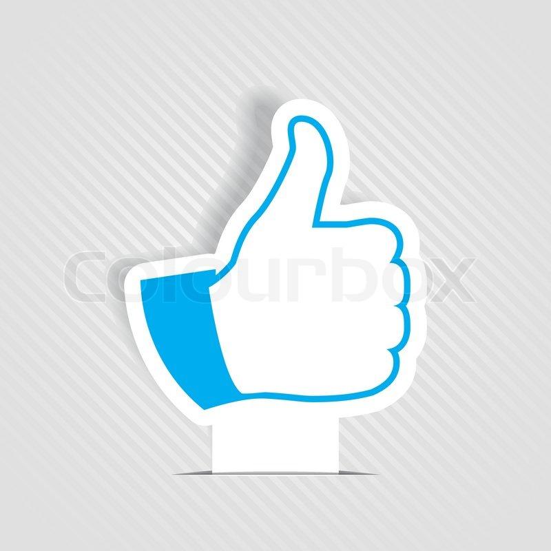 Vector Illustration Of Thumb Up Like Symbol Stock Vector Colourbox