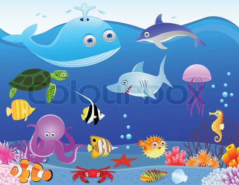 sea life cartoon stock vector colourbox angel fish clip art black and white angel fish clip art free