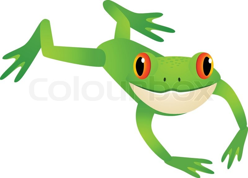 Frog Jumping Vector 5183612 on Rain Forest Ecosystem