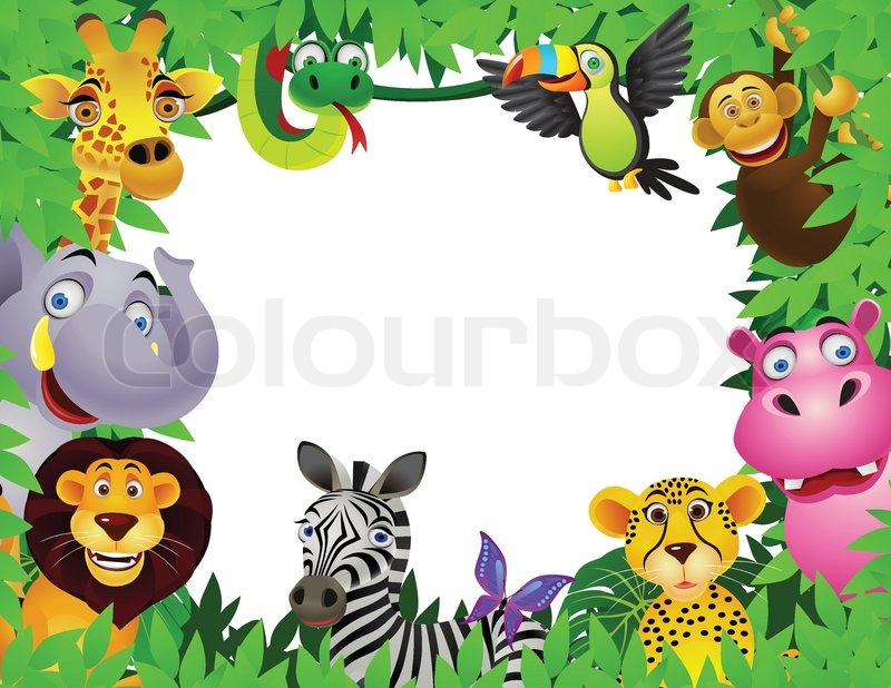Animal in the jungle | Stock Vector | Colourbox