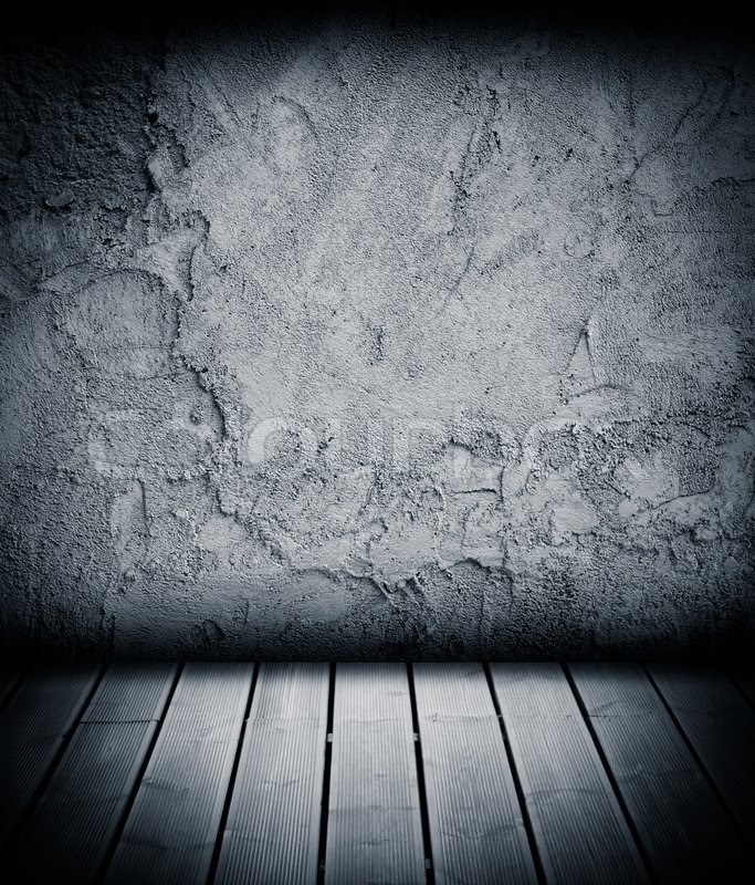 Wood floor and concrete wall textured background | Stock ...