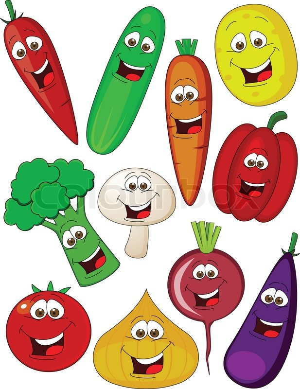Vegetable cartoon | Vector | Colourbox: colourbox.com/vector/vegetable-cartoon-vector-5186144