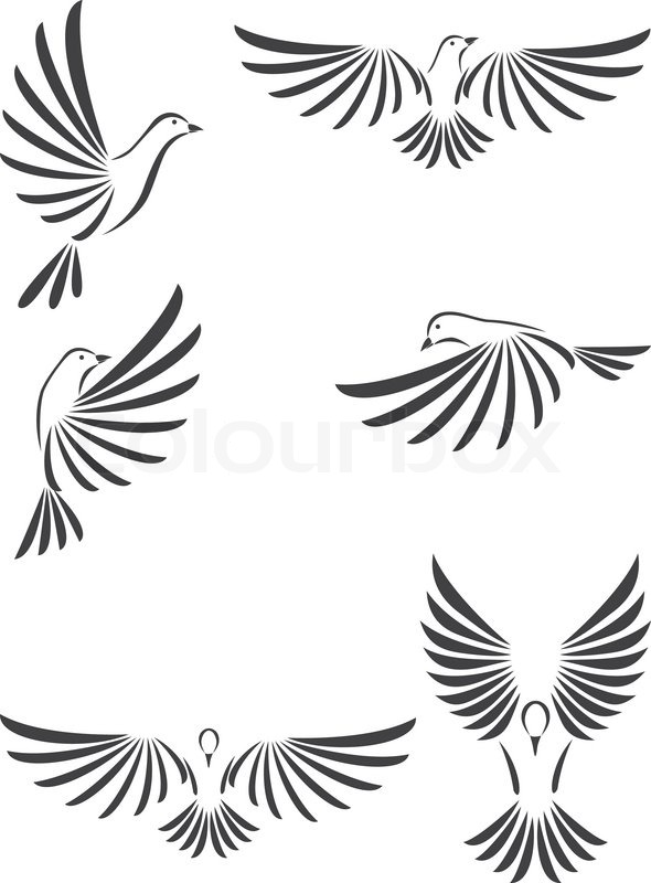 Dove vector | Stock Vector | Colourbox