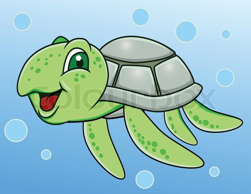 Turtle Cartoon Stock Vector Colourbox