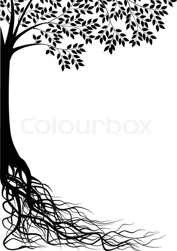 Tree Silhouette Stock Vector Colourbox