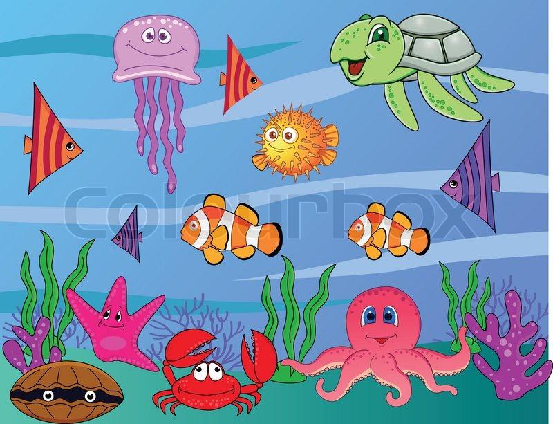 Sea Life | Stock Vector | Colourbox