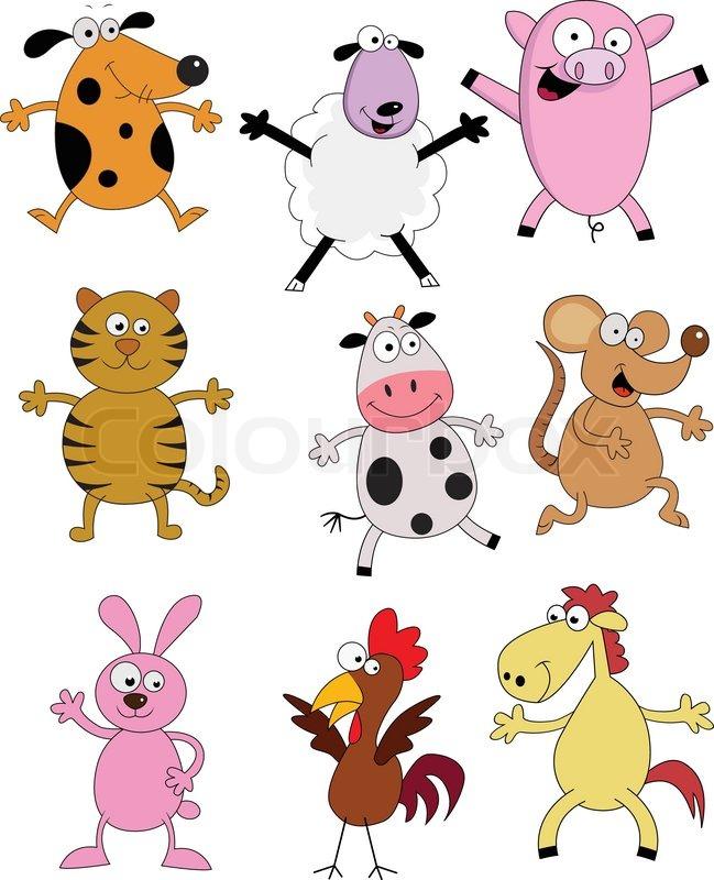 Farm Animal Cartoon Stock Vector Colourbox