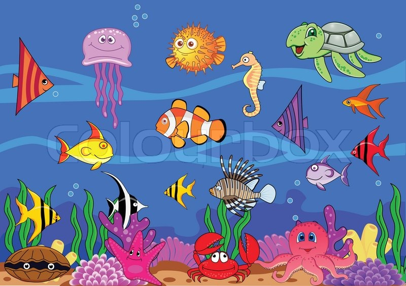 Sea Life Stock Vector Colourbox