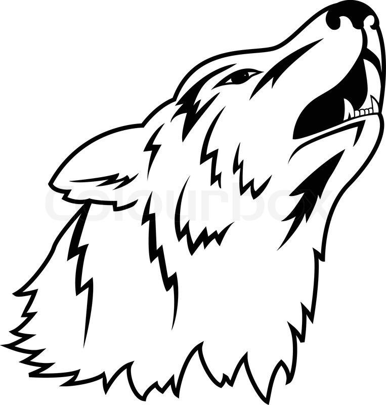 Vector illustration of wolf tattoo | Stock vector | Colourbox