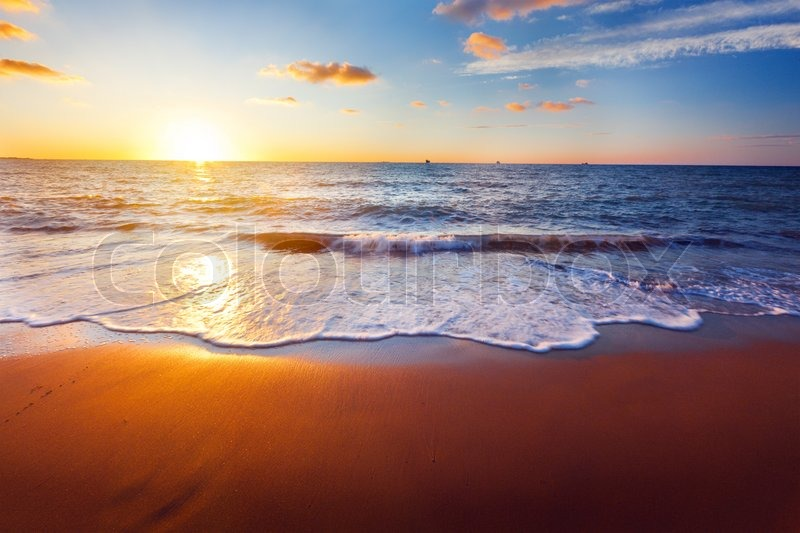 Sunset and sea, stock photo