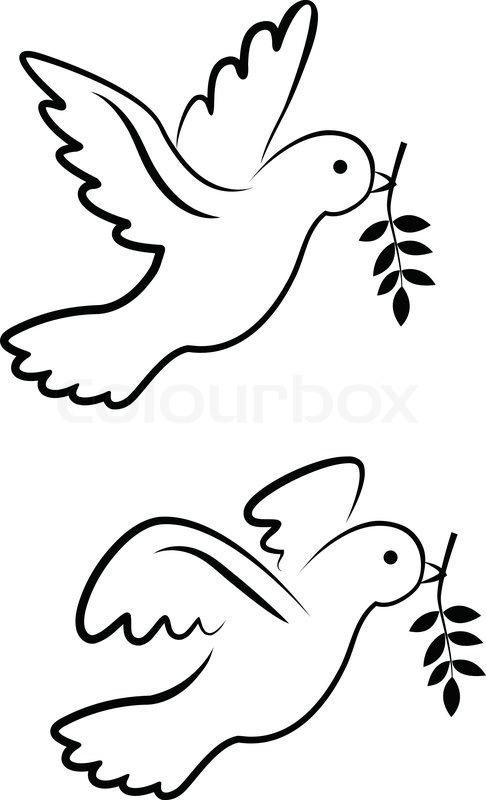 Vector Dove Symbol Stock Vector Colourbox