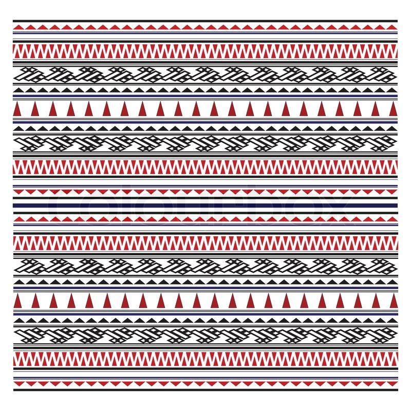 Illustration der Maori Symbole Muster | Vektorgrafik | Colourbox