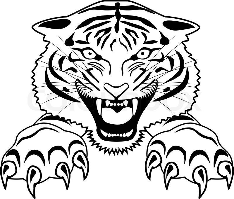 a5c1349f8 Tiger tattoo | Stock vector | Colourbox