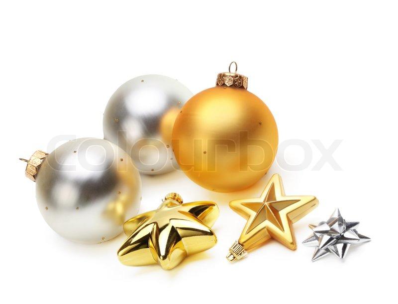 gold und silber weihnachtskugeln stock foto colourbox. Black Bedroom Furniture Sets. Home Design Ideas