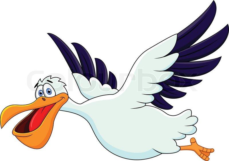 pelican cartoon flying stock vector colourbox rh colourbox com cartoon birds flying in the sky cartoon birds flying away