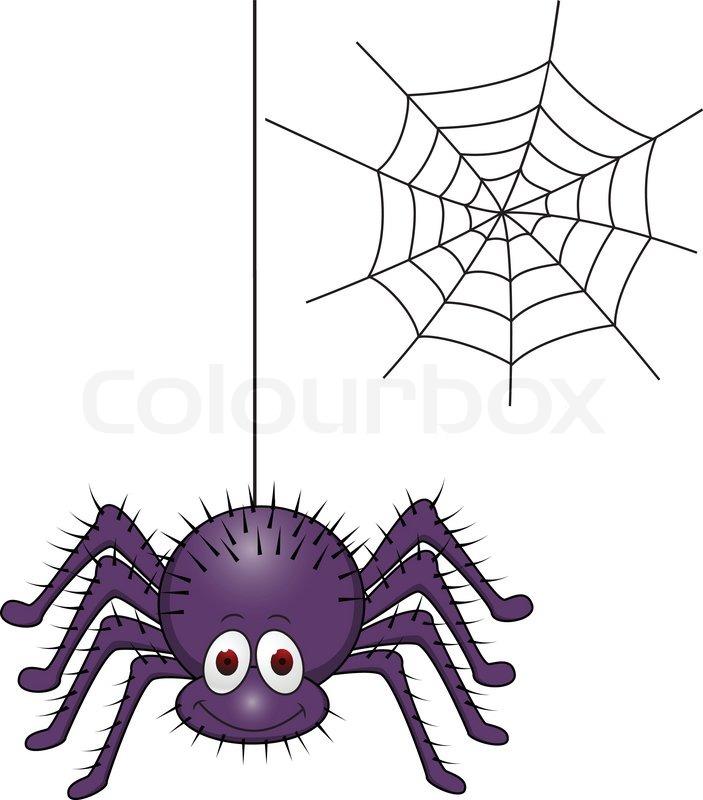 Spider Cartoon Vector Colourbox
