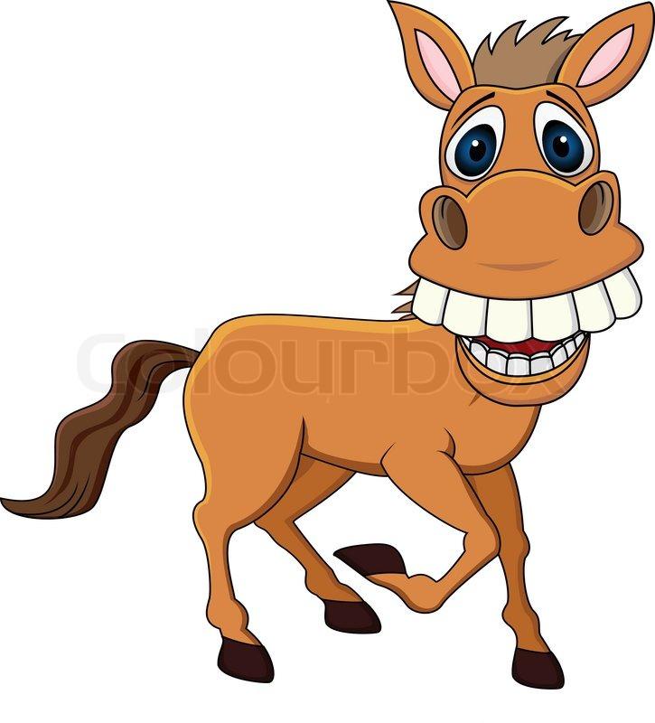 Smiling horse cartoon stock vector colourbox publicscrutiny Choice Image