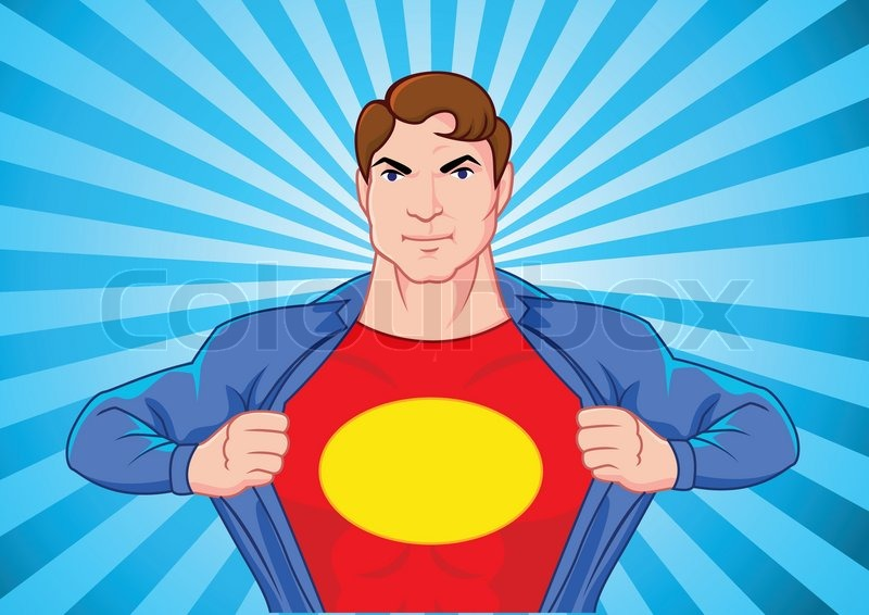 Superhero undercover stock vector colourbox