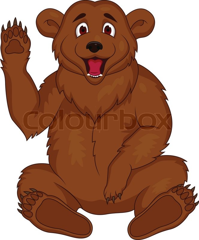 Brown Bear Cartoon Stock Vector Colourbox