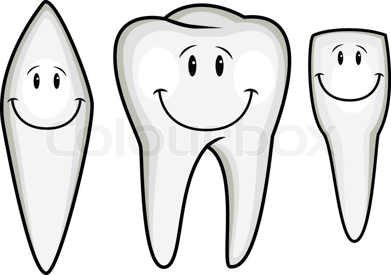 Tooth cartoon collection stock vector colourbox - Dessin de dent ...