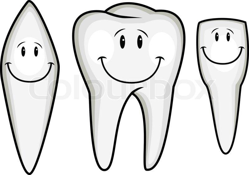 Tooth cartoon collection stock vector colourbox - Dessin de dent ...
