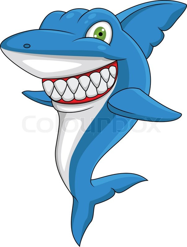 Happy shark | Stock Vector | Colourbox