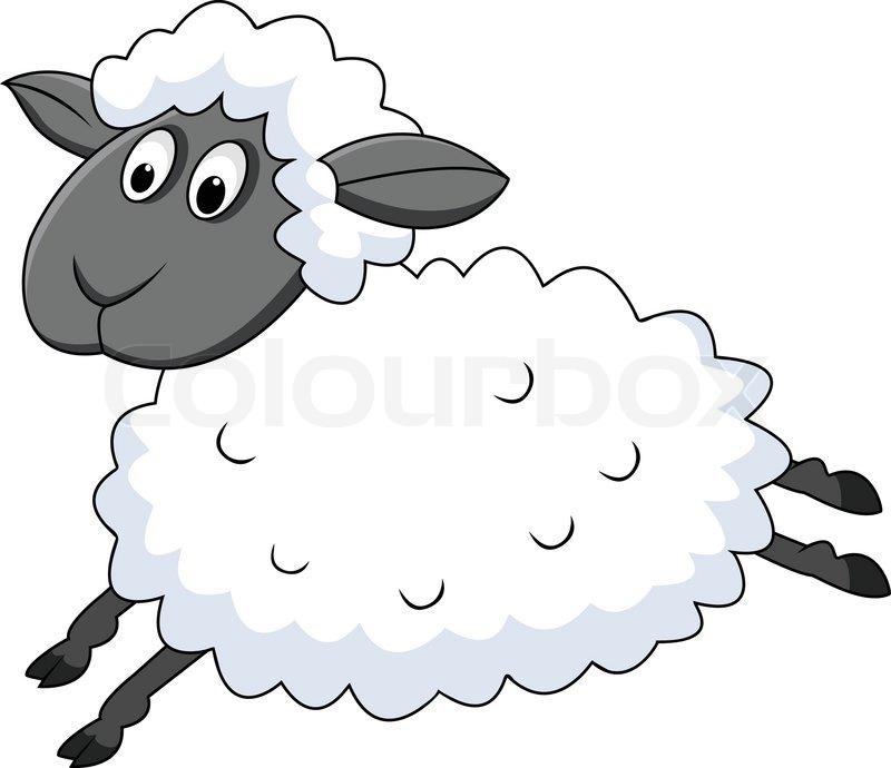 Schafe springen ...Sheep Shearing Clip Art