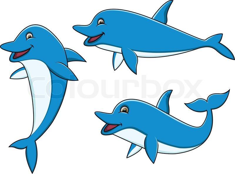 dolphin cartoon stock vector colourbox shark fin clip art silhouette Shark Fin Clip Art Happy