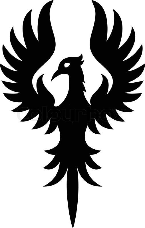 Phoenix bird silhouett...