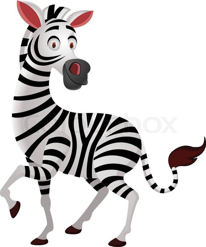 Cartoon Characters Zebra : Zebra cartoon stock vector colourbox