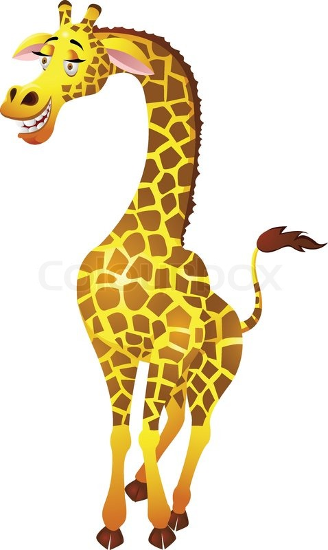 Funny cartoon giraffe pictures