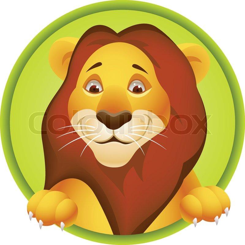 Lion Cartoon Character on Stock Vector Of  Lion Cartoon Character