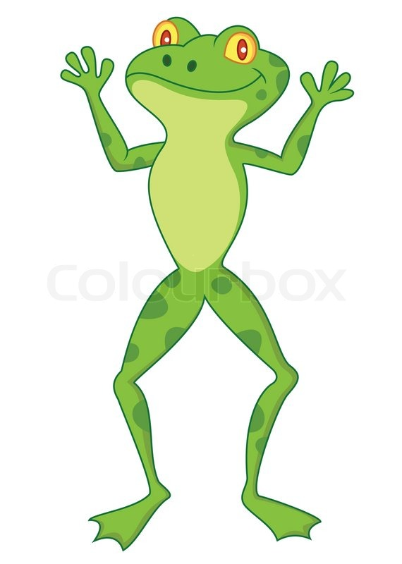 funny frog cartoon stock vector colourbox