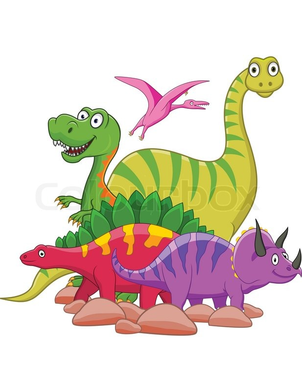 dinosaur cartoon stock vector colourbox Baby Dino Blank Background Green Dino Baby