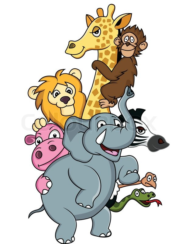 Wild Animal Cartoon Stock Vector Colourbox