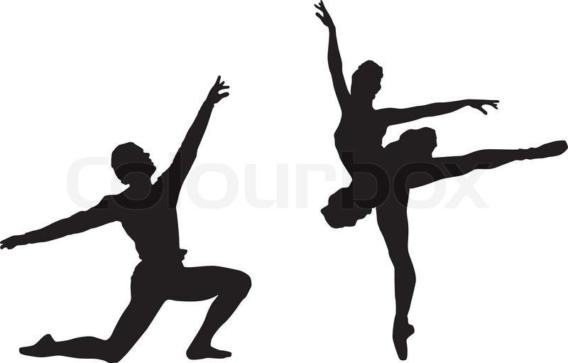 Imagen De Una Silueta De Una Mujer Para Colorear: Ballett-Tänzer