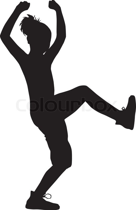 dancing silhouette child stock vector colourbox rh colourbox com dance team logo design jil dance team logo