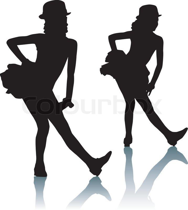 dancing silhouettes children stock vector colourbox