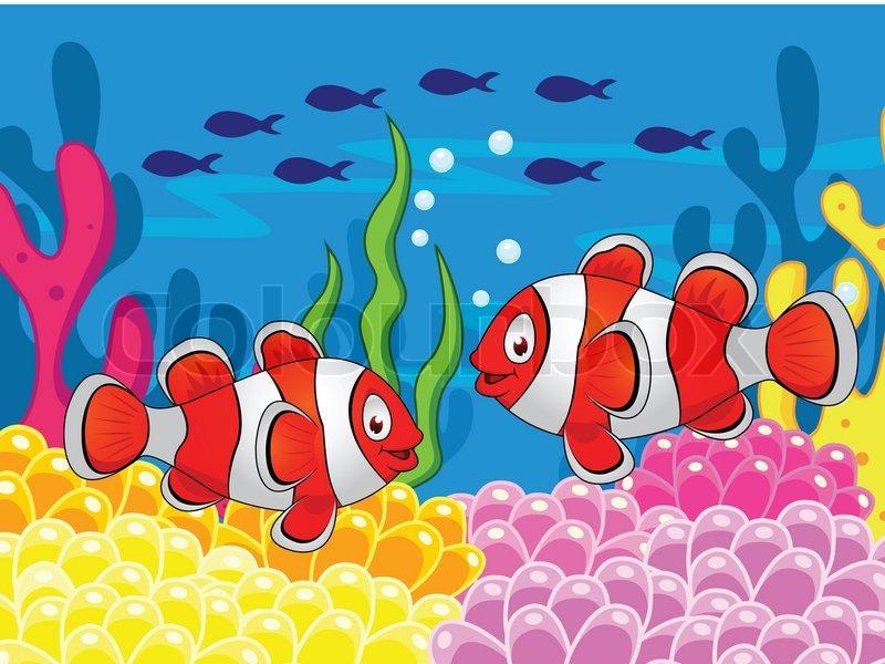 Clown fish cartoon | Stock Vector | Colourbox