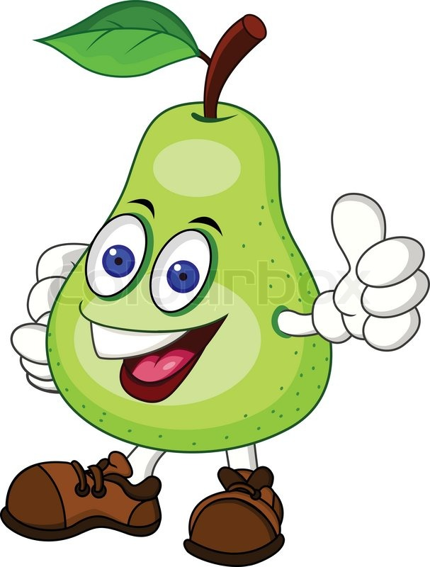pear cartoon character stock vector colourbox pear clipart images black and white pearl clip art images
