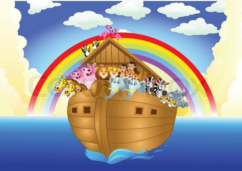 noah ark stock vector colourbox rainbow vector free download rainbow vector free download