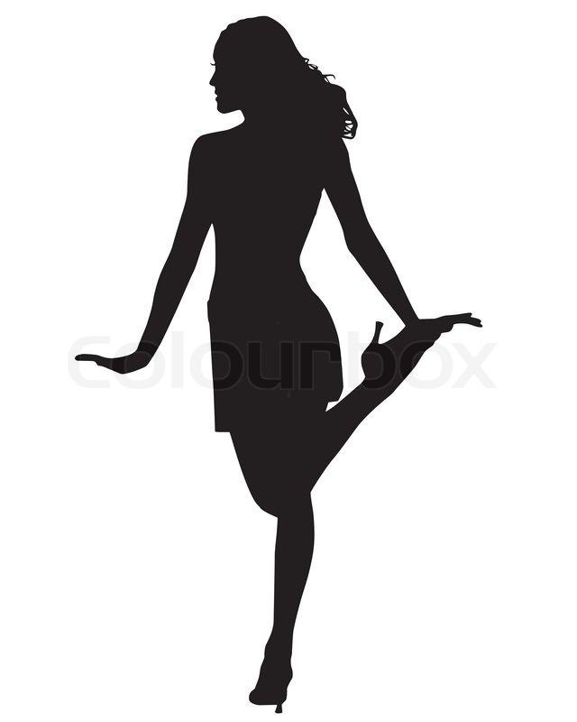 Runway model silhouette vector