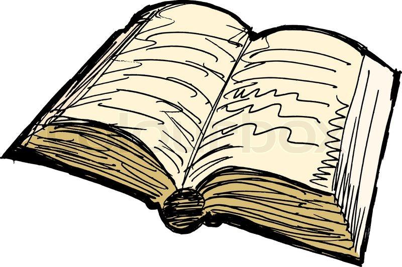 Aufgeschlagenes buch clipart  Altes Buch   Vektorgrafik   Colourbox
