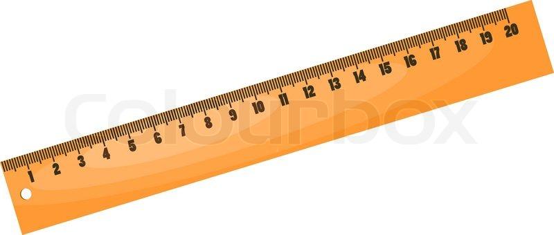 Cartoon wood ruler eps10 | Vector | Colourbox