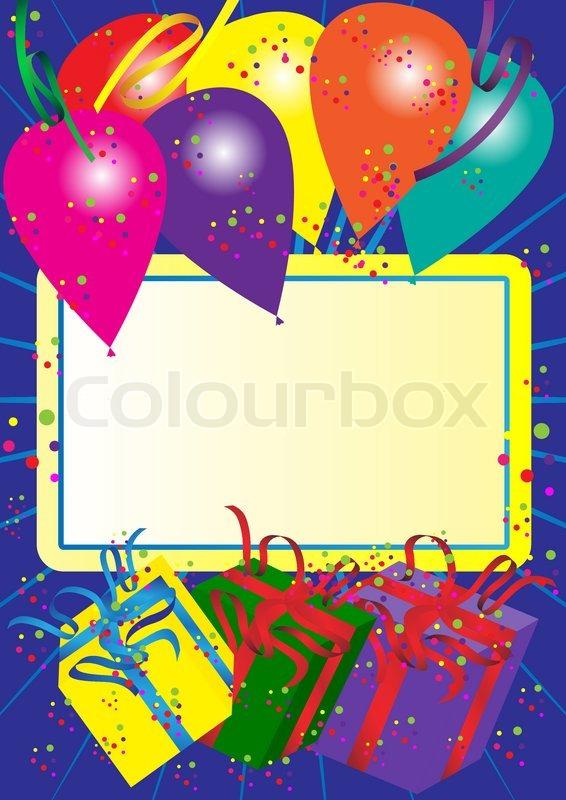 Happy Birthday Card Stock Vector Colourbox